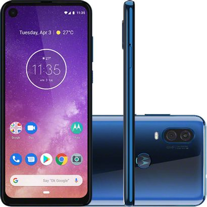 Smartphone Motorola Moto One Vision XT1970-01 Tela 6,3 128GB Camera 48+5MP Dual Chip Cor:Azul